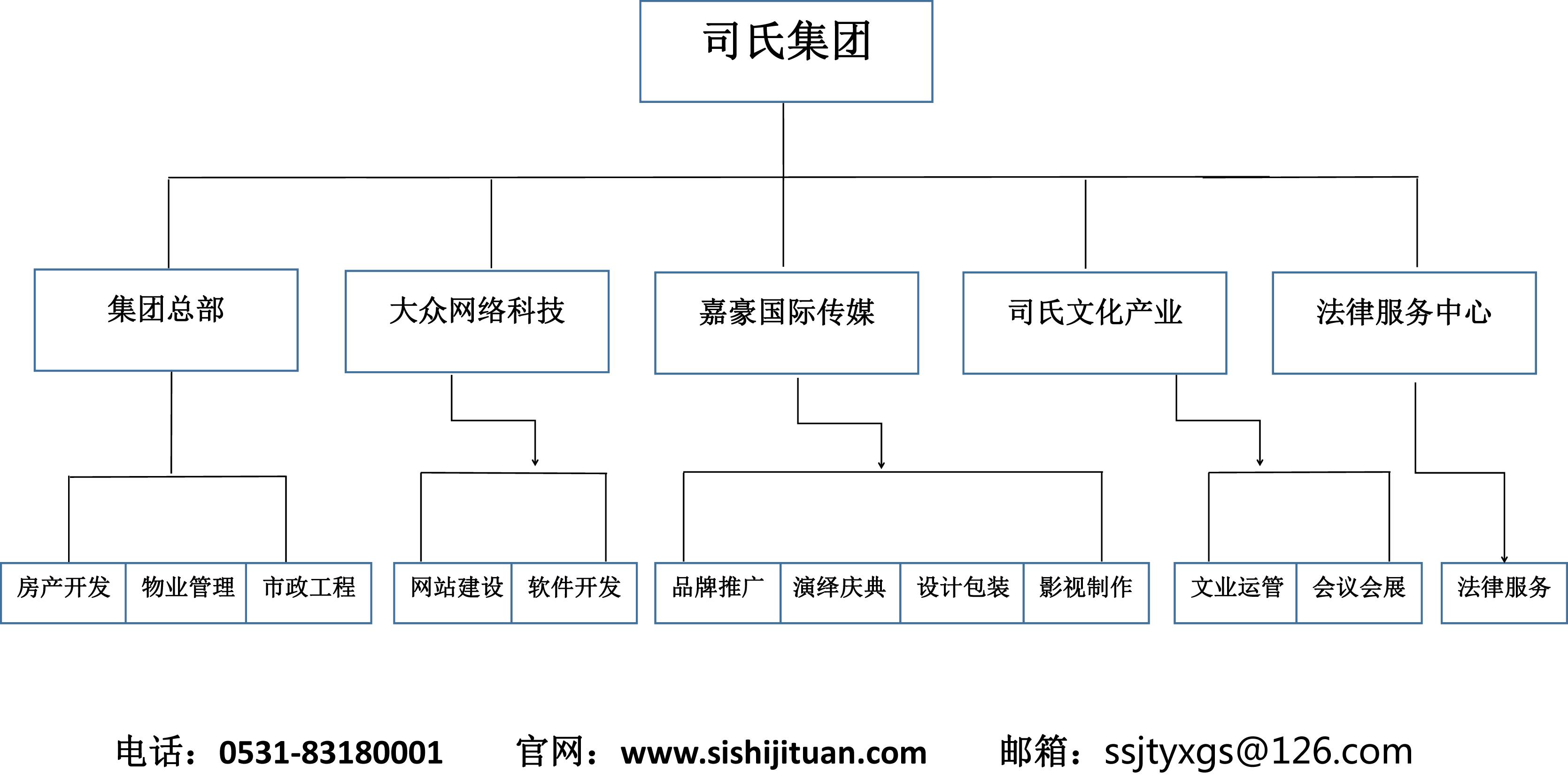 一图解读司氏集团所运营的产业内容项目